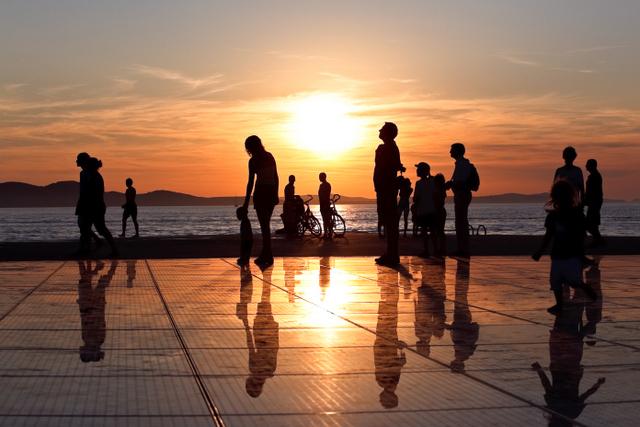 夕日とシーオルガンで有名な美しい町、ザダル ©Zadar Tourist Board