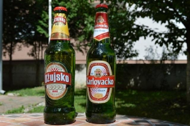 クロアチアの国民的ビール「オジュイスコ」と「カルロバチコ」