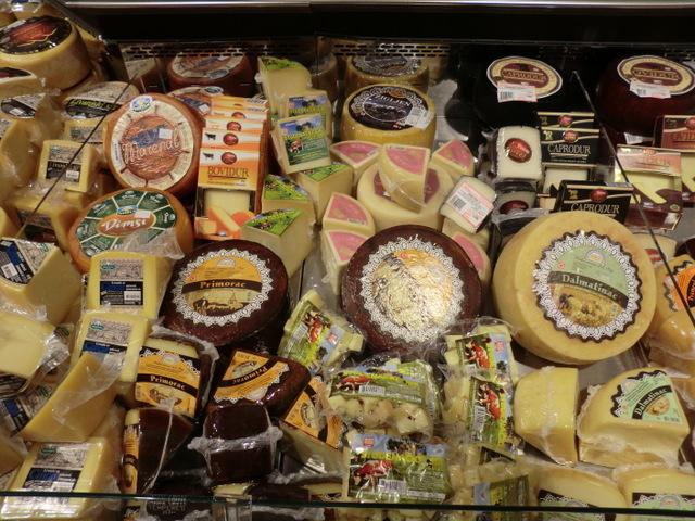 種類豊富なクロアチアチーズ