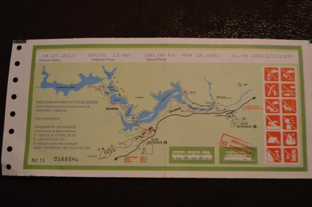 チケットには簡単な園内地図が描かれています。遊覧船に乗車するとスタンプが押されます。(バスは乗車してもスタンプが押されないことが多いです)
