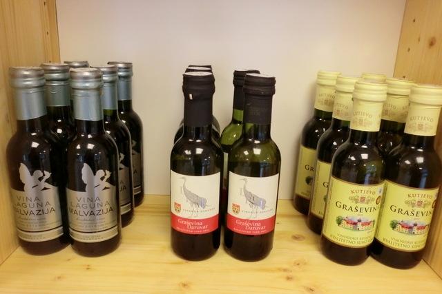 187mlサイズのかわいらしいミニボトル入りのワインたち