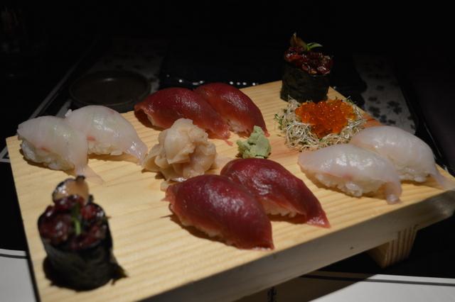 アドリア海でとれた新鮮な魚を使ったお寿司