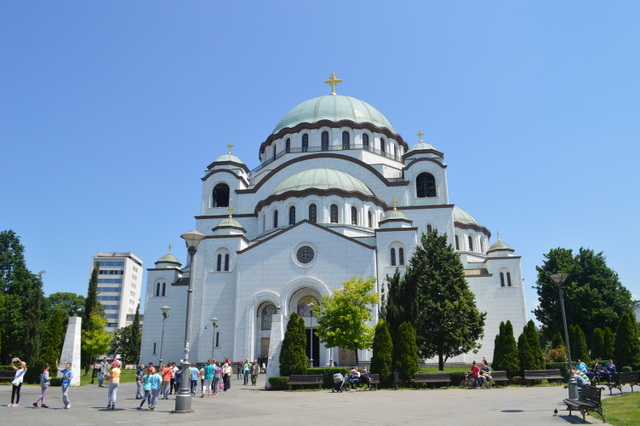 ベオグラードのシンボルのひとつ、サヴァ大聖堂