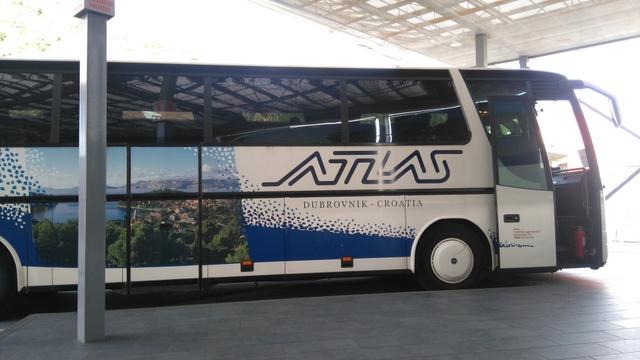 ドブロブニク市内=空港の移動に便利なシャトルバス