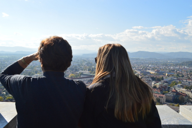 リュブリャナ城からの眺め