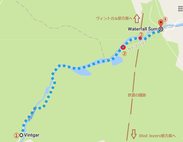 ヴィントガル渓谷散策マップ